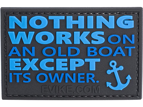 Evike.com Nothing Works on an Old Boat PVC Morale Patch