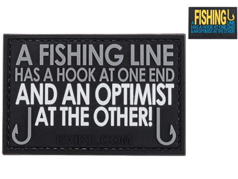 Evike.com A Fishing Line Has A Hook At One End... PVC Morale Patch