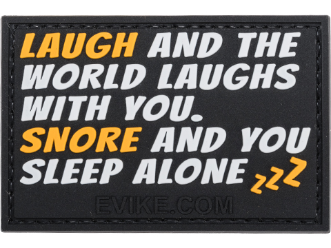 Laugh and the World Laughs PVC Morale Patch