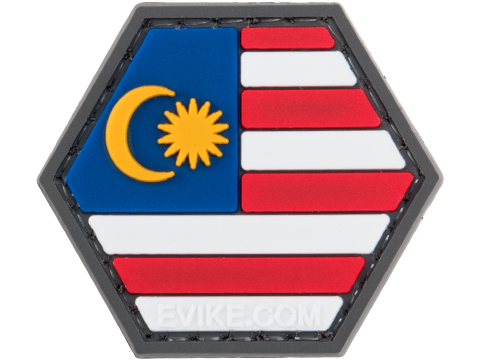 Operator Profile PVC Hex Patch Flag Series (Country: Malaysia)