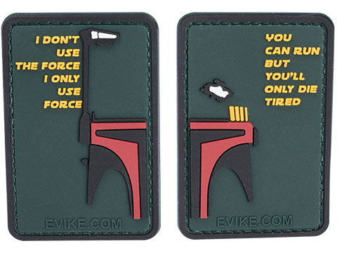 SW Quotables 3 x 2 PVC Morale Patch Set (Type: Bounty Hunter)