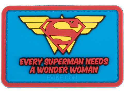 Evike.com Every Superman Needs a Wonder Woman PVC Morale Patch