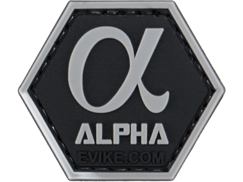 Operator Profile PVC Hex Patch Greek Letters Series (Style: Alpha)