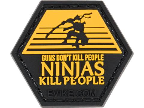 Operator Profile PVC Hex Patch Pop Culture Series 5 (Style: Guns Don't Kill People Ninjas Do)
