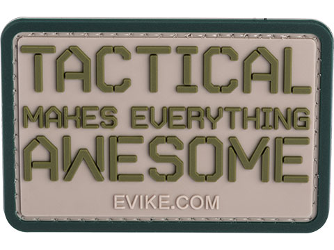 Tactical Makes Everything Awesome 3 x 2 PVC Morale Patch