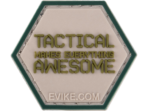 Operator Profile PVC Hex Patch Catchphrase Series 6 (Style: Tactical Makes Everything Awesome)