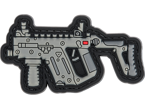 Evike.com PVC Morale Patch Mini Gun Series (Model: KRISS Vector / Black)