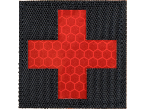 Matrix Reflective Medic Patch w/ Nylon Bordering (Color: Black / Red)