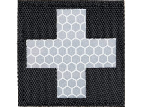 Matrix Reflective Medic Patch w/ Nylon Bordering (Color: Black / White)