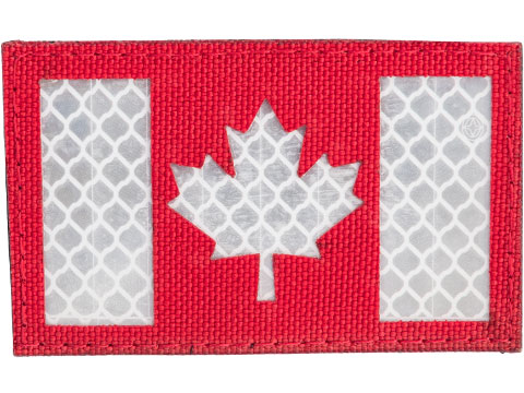 Matrix Reflective Canada Flag Patch w/ Nylon Bordering (Color: Red)