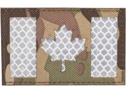 Matrix Reflective Canada Flag Patch w/ Nylon Bordering (Color: Multicam)