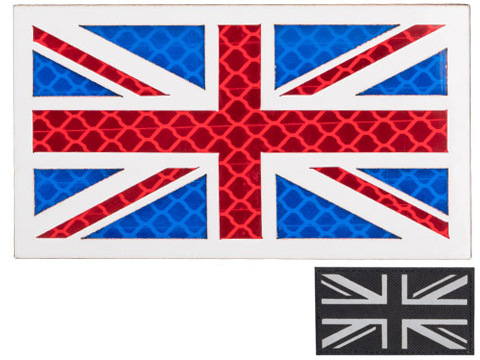 Matrix Reflective UK Union Jack Flag Patch (Color: Black)