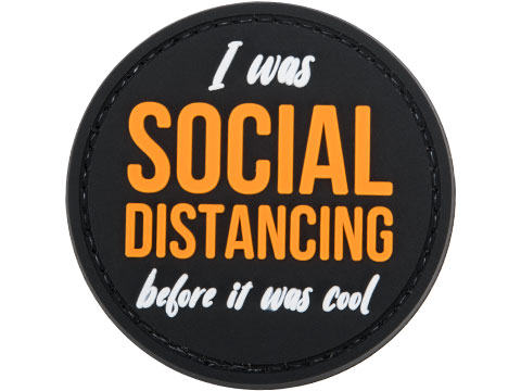 Evike.com COVID-19 Awareness PVC Morale Patches (Style: Social Distancing Before It Was Cool)