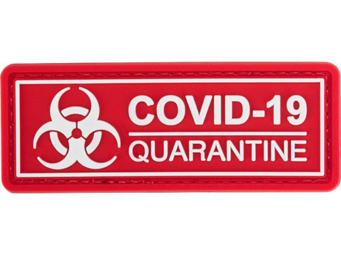 Evike.com COVID-19 Awareness PVC Morale Patches (Style: Quarantine / Red)