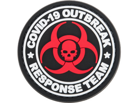 Evike.com COVID-19 Awareness PVC Morale Patches (Style: Outbreak Response Team / White)