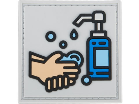 Evike.com COVID-19 Awareness PVC Morale Patches (Style: Wash Your Hands / Grey)