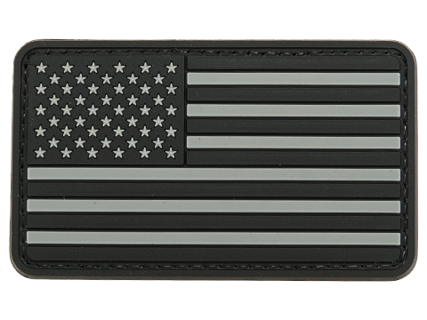 US Flag PVC Hook and Loop Rubber Patch (Color: Regular / SWAT)