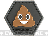 Operator Profile PVC Hex Patch Emoji Series (Emoji: Poo)