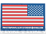Evike.com US Flag PVC Hook and Loop Patch (Color: Full Color / Reverse)