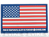 Evike.com US Flag PVC Hook and Loop Patch - Full Color (Regular)