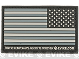 Evike.com US Flag PVC Hook and Loop Patch - SWAT (Reverse)