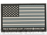 Evike.com US Flag PVC Hook and Loop Patch (Color: SWAT / Regular)