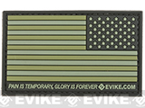 Evike.com US Flag PVC Hook and Loop Patch - OD Green (Reverse)