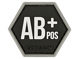 Operator Profile PVC Hex Patch  Blood Type Series (Type: AB Positive)