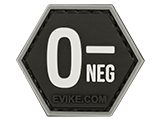 Operator Profile PVC Hex Patch  Blood Type Series (Type: O Negative)