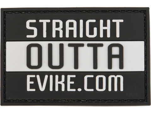 Evike.com PVC 2 x 3 Morale Patch - Straight Out of Evike.com