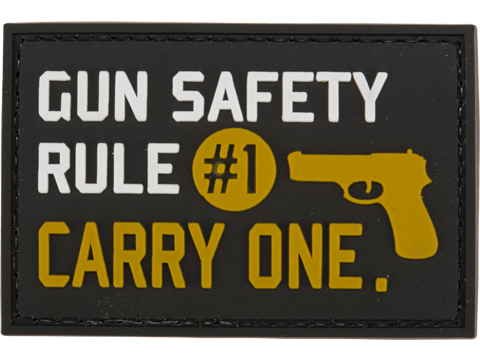 Evike.com PVC 2 x 3 Morale Patch - Gun Rule #1