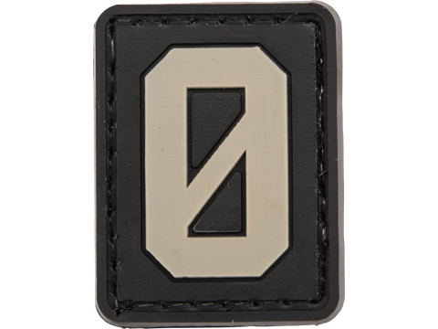 Evike.com PVC Hook and Loop Letters & Numbers Patch Black/Grey (Number: 0)