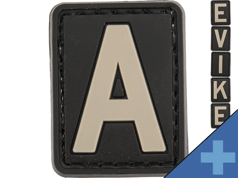 Evike.com PVC Hook and Loop Letters & Numbers Patch Black/Grey (Letter: A)