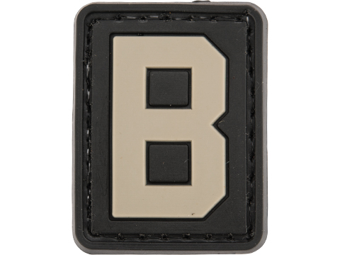 Evike.com PVC Hook and Loop Letters & Numbers Patch Black/Grey (Letter: B)