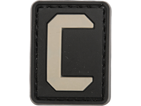 Evike.com PVC Hook and Loop Letters & Numbers Patch Black/Grey (Letter: C)