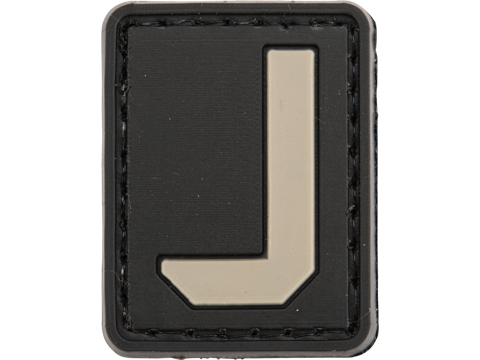 Evike.com PVC Hook and Loop Letters & Numbers Patch Black/Grey (Letter: J)