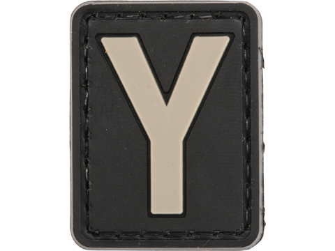 Evike.com PVC Hook and Loop Letters & Numbers Patch Black/Grey (Letter: Y)