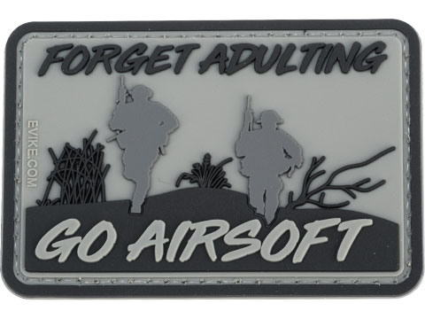 Evike.com Forget Adulting Go Airsoft PVC Morale Patch