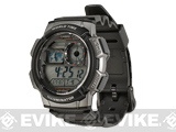 Casio AE1000W-1BVCF Digital World Time Sport Watch - Black