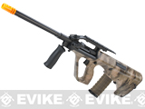 Evike.com A-TACS Water-Transfer Custom AUG Alpha-1 Airsoft AEG Rifle w/ Fluted Outer Barrel
