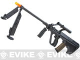 Evike.com Custom AUG Alpha-H Sniper Airsoft AEG Rifle w/ Integrated Scope & Bipod - Black