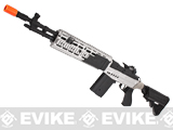 Pre-Order Estimated Arrival: 06/2014 --- CYMA M14 RIS EBR (Evil Black Rifle) Custom Full Metal Airsoft AEG Sniper Rifle - Silver