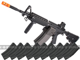 (10 FREE MAG PACKAGE DEAL!) G&G Top Tech Full Metal Pro-Line GR16 R4 Carbine Blowback Airsoft AEG Rifle