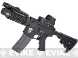 Evike Custom Class I G&G M4 Stubby Killer Airsoft AEG Rifle - Black