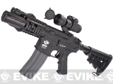 Evike Custom Class I G&G M4 Fighting Cat Airsoft AEG Rifle - Black