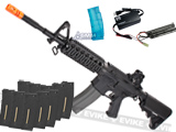 G&G Top Tech GR16 R4 Commando Full Metal Blowback Airsoft AEG Rifle - Black