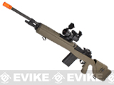 G&P M14 Socom-16 DMR Custom Airsoft AEG Sniper Rifle w/ Red Dot Scope - Desert