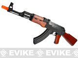 G&P Metal AK47 Airsoft AEG Rifle with Real Wood Furniture