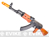 Javelin Full Metal AK47 Battle Veteran Electric Blowback Airsoft AEG Rifle w/ Real Wood Furniture