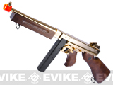 King Arms Thompson M1A1 Military Grand Special Edition Airsoft AEG Rifle - 23K Gold Plated